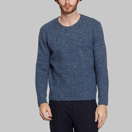 Wool Knit Sweater // Blue (S)