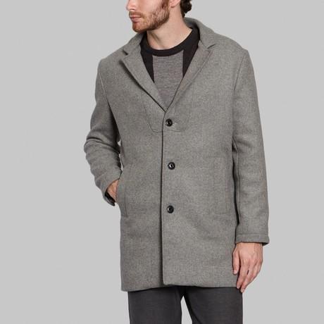 Wool Long Coat // Light Grey (S)