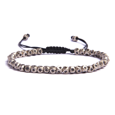 Mini Geometric Silver Beaded Bracelet