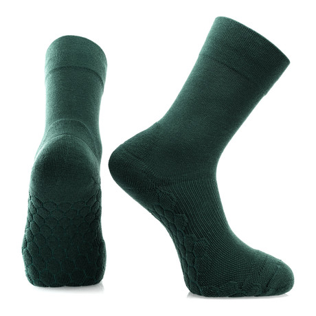 Set of 2 // Neverquit Crew Socks // Army Green
