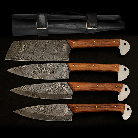 Damascus Kitchen Cutlery Set // Set of 4