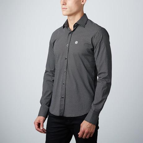 Slim Button Down Shirt // Black + White