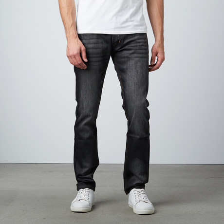 Coated Standard Slim Jean // Black (30WX32L)
