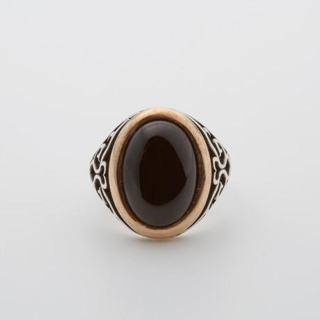 Vintage Onyx Stone Ring (Size 8.5)