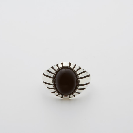 Eye Onyx Stone Ring (Size 8.5)