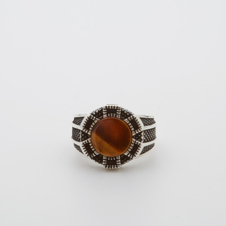 Red Agate Luxury Ring (Size 8.5)
