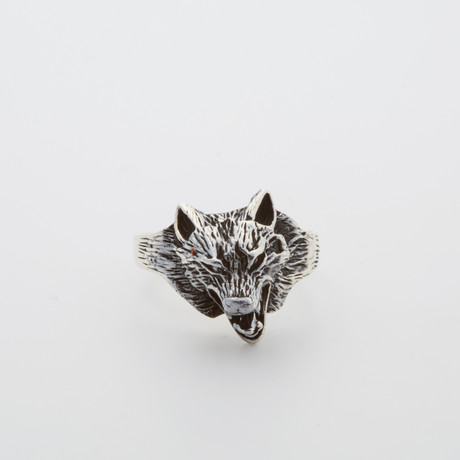 Howling Wild Wolf Ring (Size 8.5)