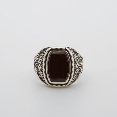 Onyx Stone Ring (Size 8.5)