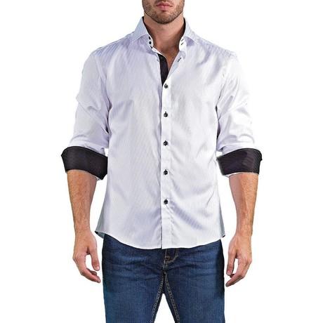 Logan Long-Sleeve Button-Up Shirt // White