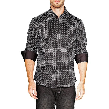 Alexander Long-Sleeve Button-Up Shirt // Black (XS)