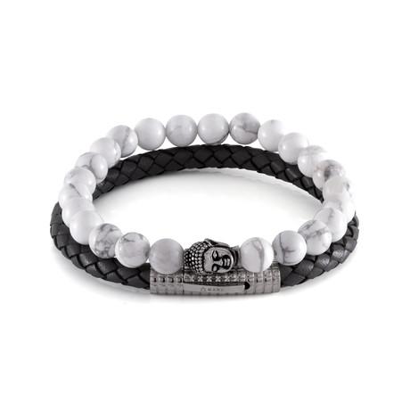 The Ancient Howlite Set of Calmness Bracelet