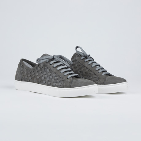Braided Leather Shoes // Grey (Euro: 42)