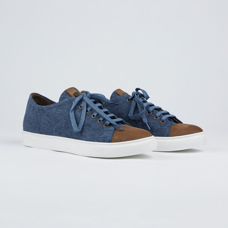 Limited Edition Cap-Toe Shoes // Blue + Brown