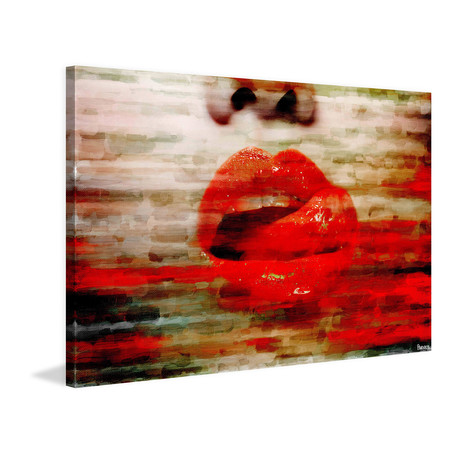 "Lick My Lips // Wrapped Canvas (18""W x 12""H x 1.5""D)"