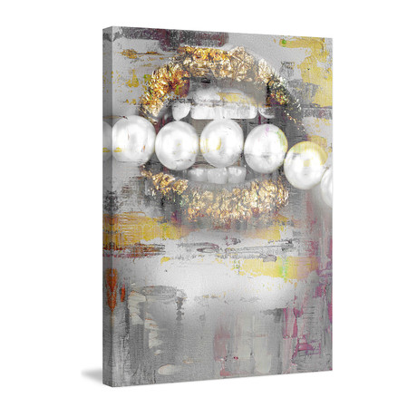 "Pearl Nibble // Wrapped Canvas (12""W x 18""H x 1.5""D)"
