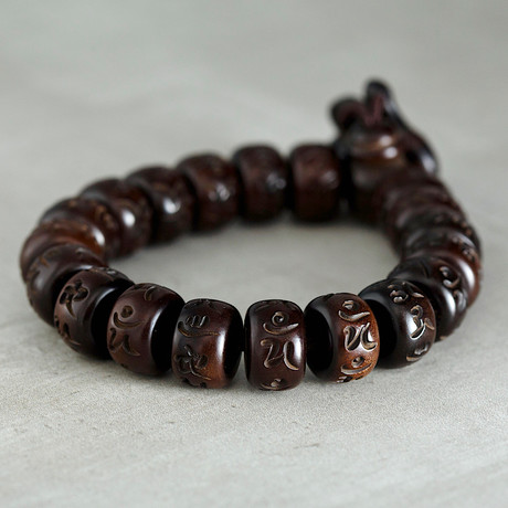 The Flattend Chinese Wood Bead Band