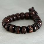 The Flattened Chinese Wood Bead Band Bracelet