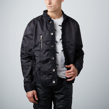 Nylon + Denim Jacket // Black