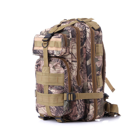 Something Tactical Military Backpack // Brown Camo