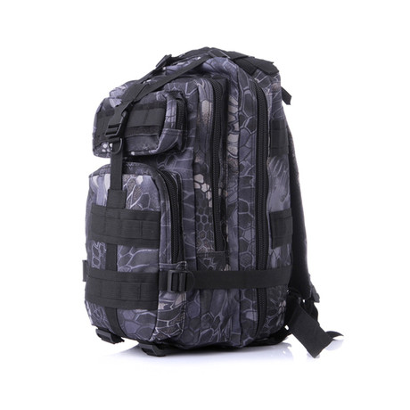 Tactical Nylon Military Backpack // Blue Camo