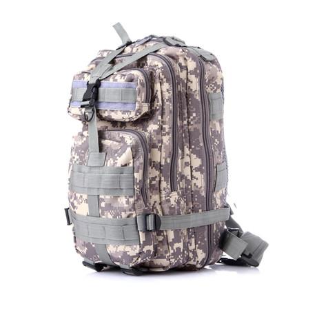 Tactical Nylon Military Backpack // Green Camo