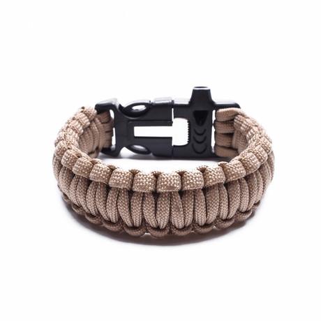 Tactical Paracord Bracelet // Khaki