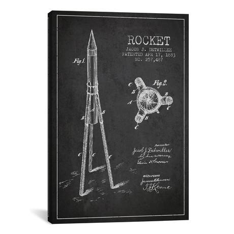 Jacob J. Detwillee Rocket Patent Sketch