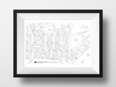 Photo of Fantasy Floorplans TV Show Blueprints Twin Peaks Map // Artist Signed by Touch Of Modern