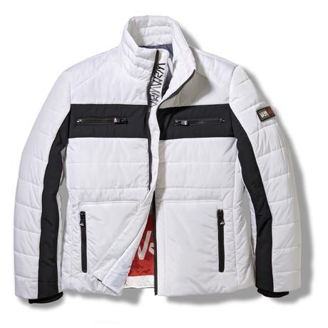 Snocross Biker Jacket // White (S)