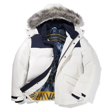 Free Ride Hooded Jacket // White (S)