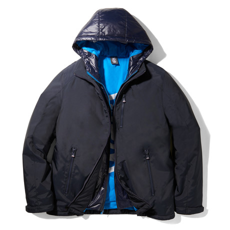 Turbo Puffer Hooded Jacket // Navy (S)