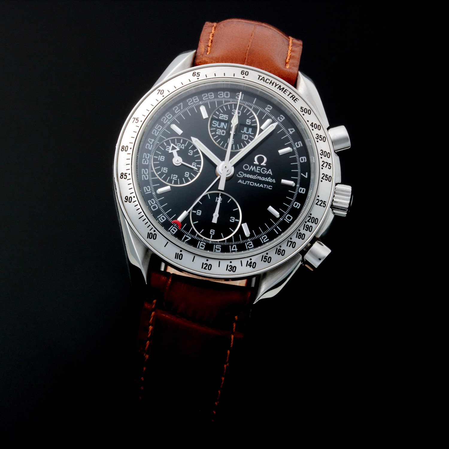 pre owned omega speedmaster day date Pre-owned omega speedmaster chronograph add to compare omega speedmaster 35213000 automatic triple date chronograph with 24 hour we ship the same day.