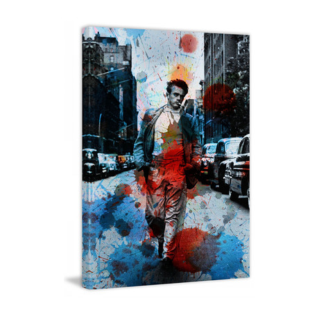 JD Walks NYC Streets Painting Print // Wrapped Canvas