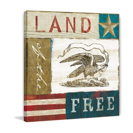 Land of the Free Painting Print // Wrapped Canvas