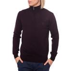 Half Zip Logo Sweater // Bordeaux (Euro: 50)