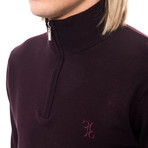 Half Zip Logo Sweater // Bordeaux (Euro: 50)