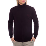 Zip Logo Sweater Jacket // Bordeaux (Euro: 50)