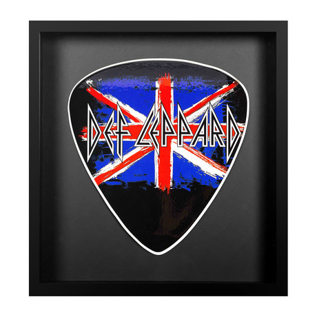 Framed Oversized Guitar Pick // Def Lepard Logo