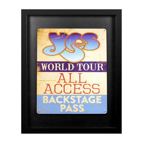 Framed Backstage Pass // Yes World Tour