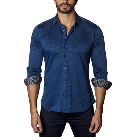 Knit Long Sleeve Shirt // Blue