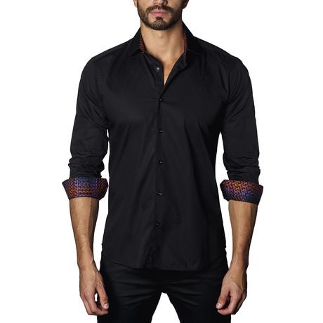 Long Sleeve Shirt // Black Jacquard