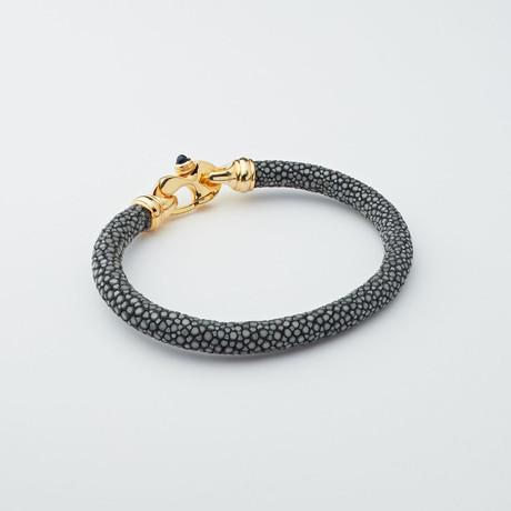 Stingray Bracelet // Gray + Gold