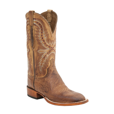 Burnished Smooth Ostrich Horseman Boot // Brown (US: 11)