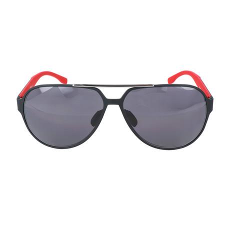 Bleecker Aviator // Grey + Red
