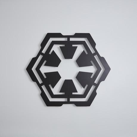 """Star Wars Sith // Floating Metal Wall Art (18""""W x 15.5""""H x 1""""D)"""