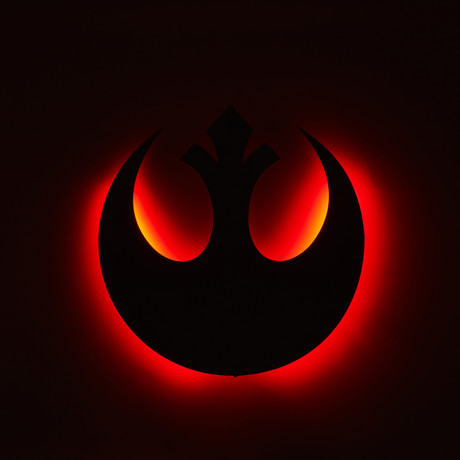 Rebel Alliance // Floating Metal Wall Art