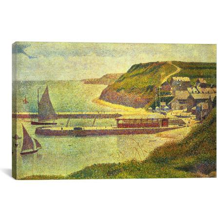 "Port-en-Bessin // Georges Seurat // 1888 (18""W x 26""H x 0.75""D)"