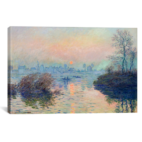 "Sunset on the Seine at Lavacourt // Clade Monet // 1880 (18""W x 26""H x 0.75""D)"