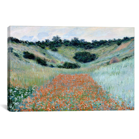 "Poppy Field in a Hollow Near Giverny (18""W x 12""H x 0.75""D)"