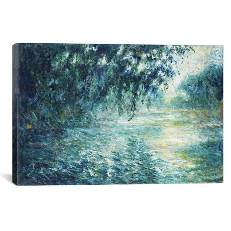 "Morning on the Seine, Near Giverny // Claude Monet // 1897 (18""W x 26""H x 0.75""D)"